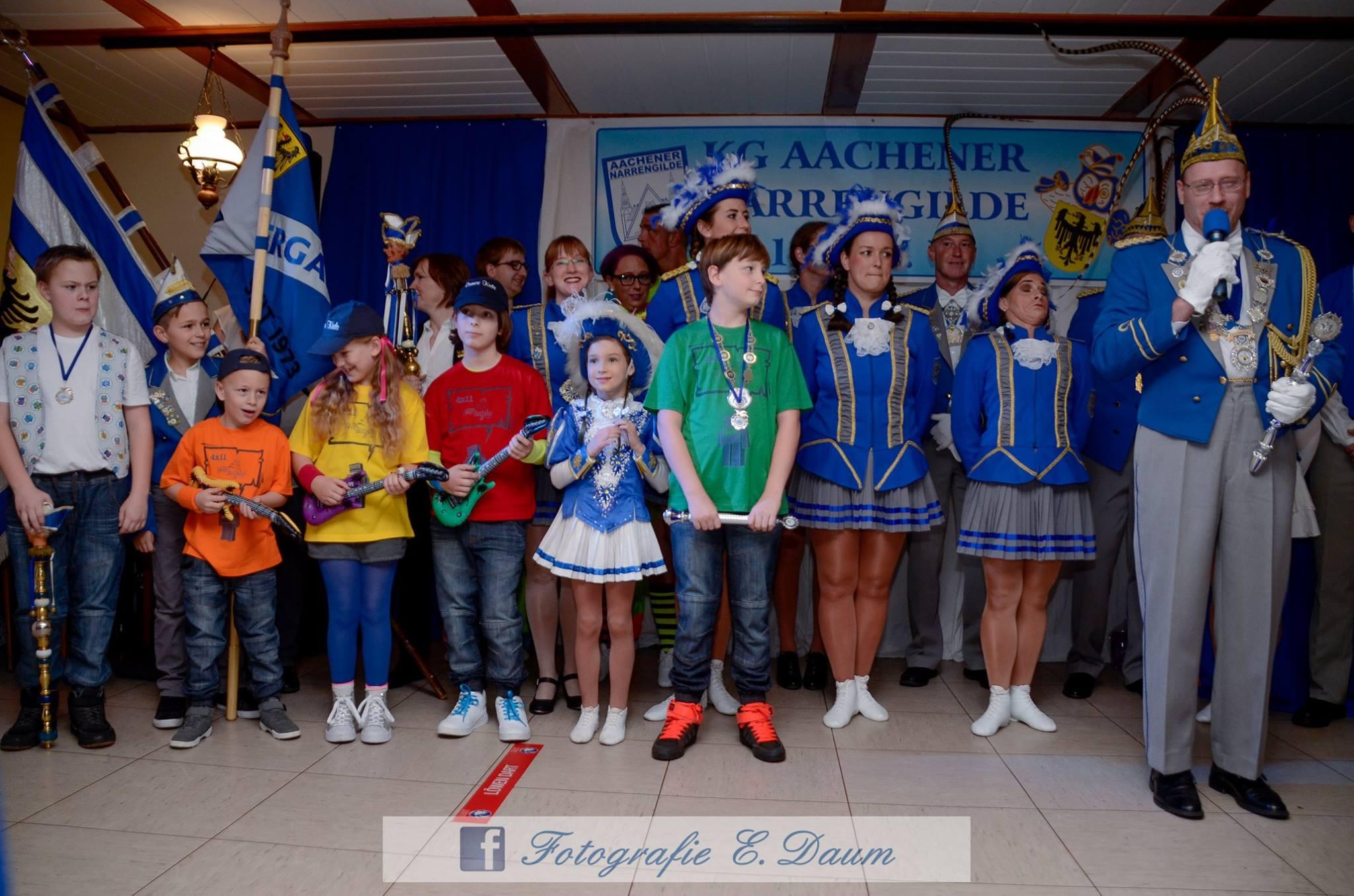 Gruppenbild Kindergarde mit großer Garde